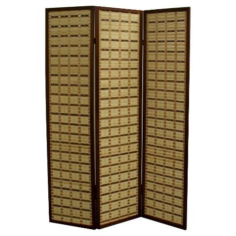 3 Panel Room Divider Walnut - Ore International - image 1 of 1