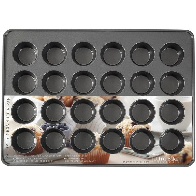 Wilton 24 Cup Nonstick Ultra Bake Professional Mega Muffin Pan