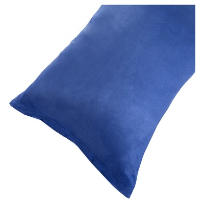 "Soft Microsuede Body Pillow Cover (51.5""x17"")Blue - Yorkshire Home"