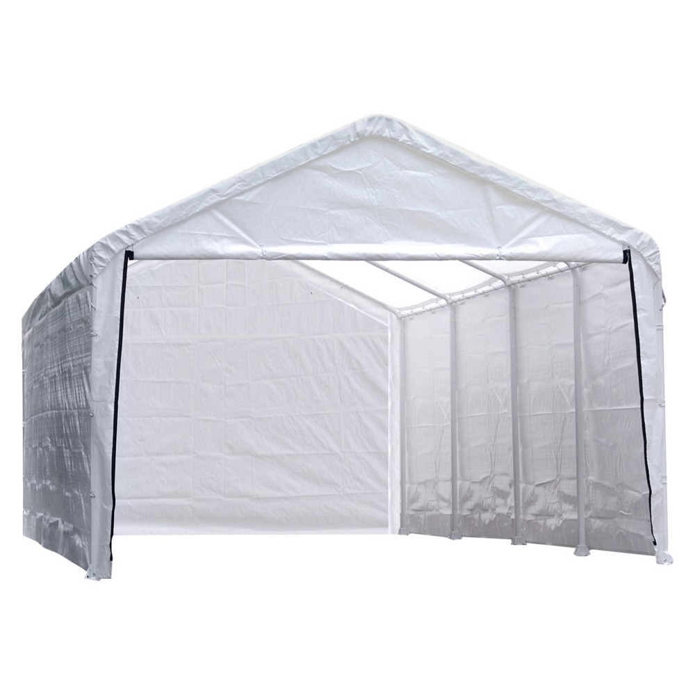 Super Max 12' X 30' Canopy Enclosure Kit Fits 2 Frame - White - Shelterlogic