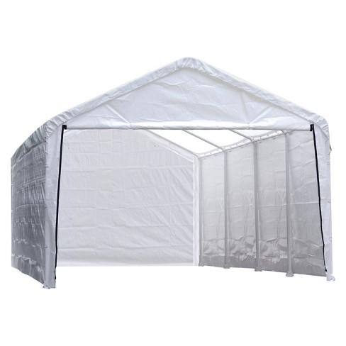 "Super Max 12' X 30' Canopy Enclosure Kit Fits 2"" Frame - White - Shelterlogic - image 1 of 3"