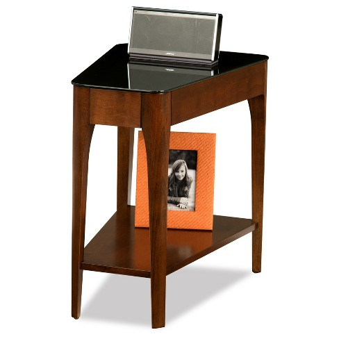 Obsidian Recliner Wedge Table - Chestnut - Leick Home - image 1 of 2