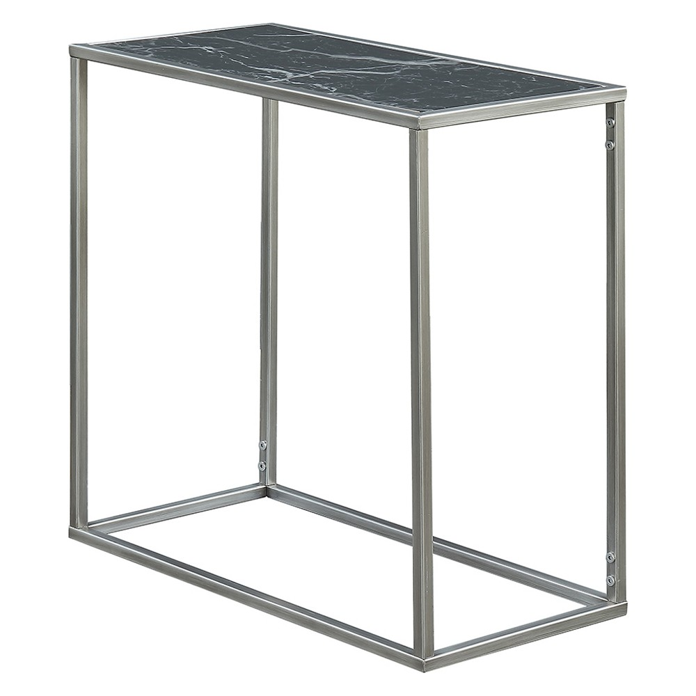 Johar Furniture Gold Coast Faux Marble Chairside Table Black