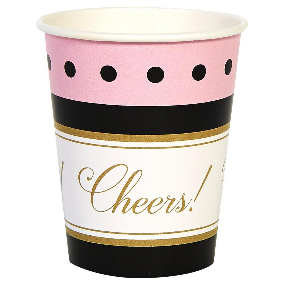 8 ct Cheers to You! 9oz Paper Cups, Multi-Colored