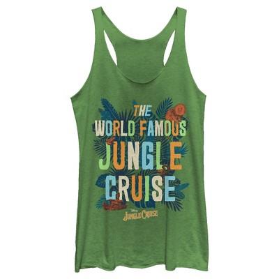 Women's Jungle Cruise The World Famous Logo Racerback Tank Top