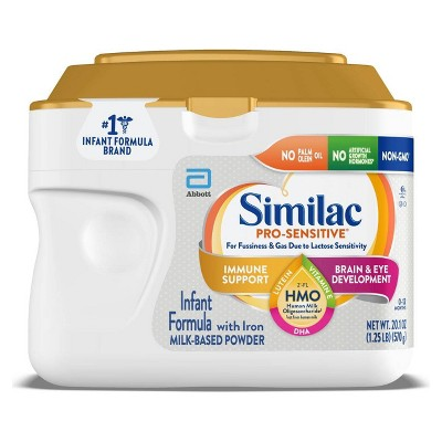 Similac Pro-Sensitive Non-GMO Infant Formula with Iron Powder - 20.1oz