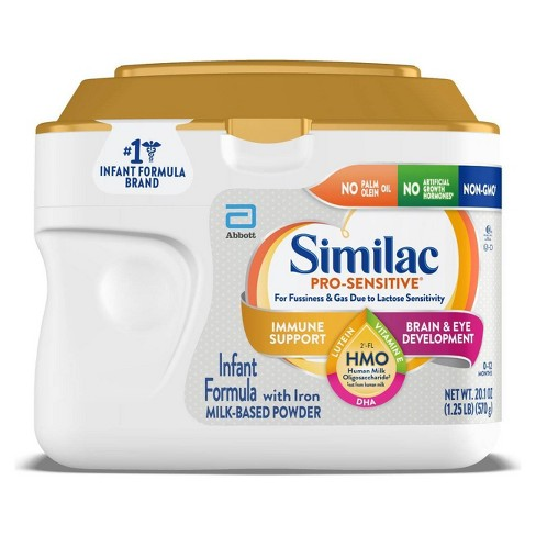 Similac Pro-Sensitive Non-GMO Infant Formula with Iron Powder - (Select Size) - image 1 of 4