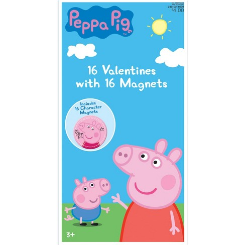 16ct Peppa Pig Valentine Card Pack With Magnets Target
