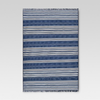 Global Stripe Blue Outdoor Rug - 9'x12' - Threshold™