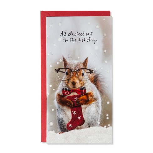 American Greetings 14ct Squirrel with Glasses Holiday Boxed Cards - image 1 of 1