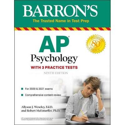 AP Psychology - (Barron's Test Prep) 9th Edition by  Allyson J Weseley & Robert McEntarffer (Paperback)