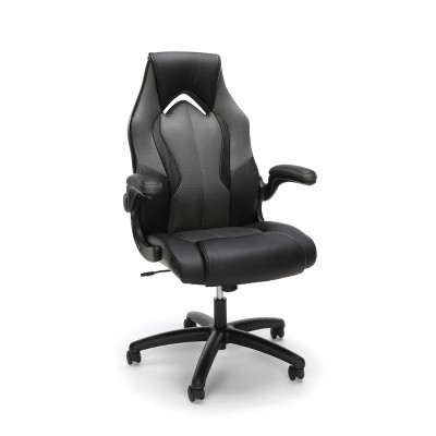 Adjustable Mesh/Leather Gaming/Office Chair with Wheels Gray/Black - OFM
