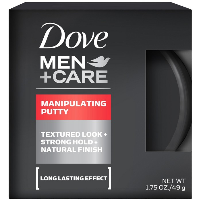Dove Men + Care Textured Look + Strong Hold + Natural Finish Manipulating Putty - 1.75oz : Target