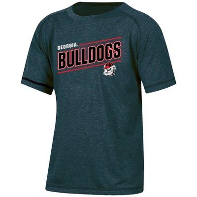 NCAA Georgia Bulldogs Boys' Short Sleeve Gray Heather Raglan T-Shirt