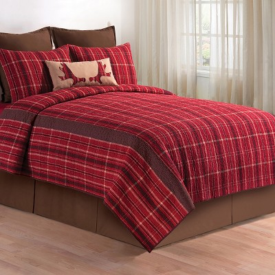 C&F Home Collin Red Full Queen Quilt