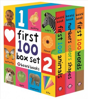 First 100 : First 100 Words / Numbers Colors Shapes / First 100 Animals (Hardcover)(Roger Priddy)