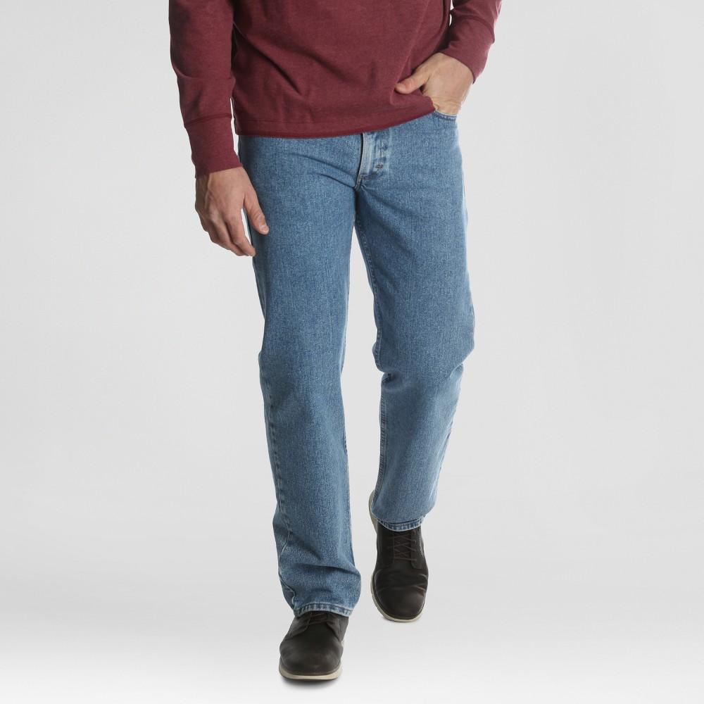 Wrangler Men 39 S Regular Fit Straight Jeans Apollo Blue 40x30