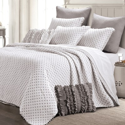 Risa Quilt Set Gray - The Industrial Shop