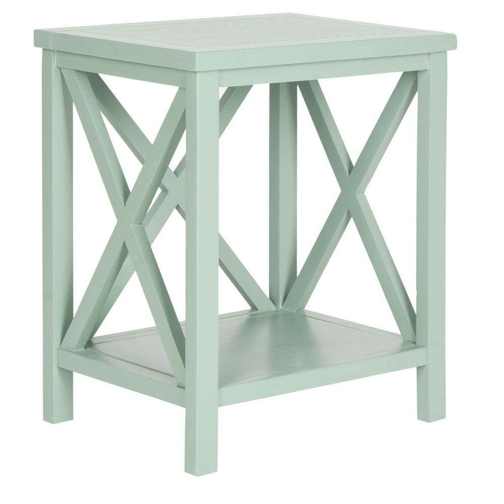Catania End Table - Gray - Safavieh, Blue/Gray