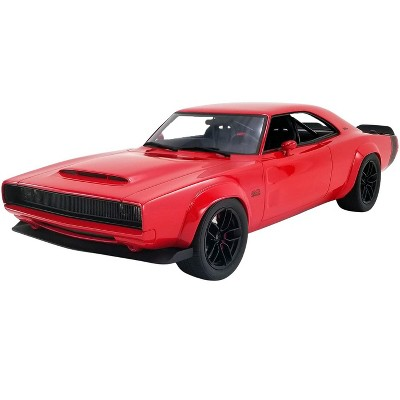 """1968 Dodge Super Charger Concept Red with Black Tail Stripe """"USA Exclusive"""" Series 1/18 Model Car by GT Spirit for ACME"""