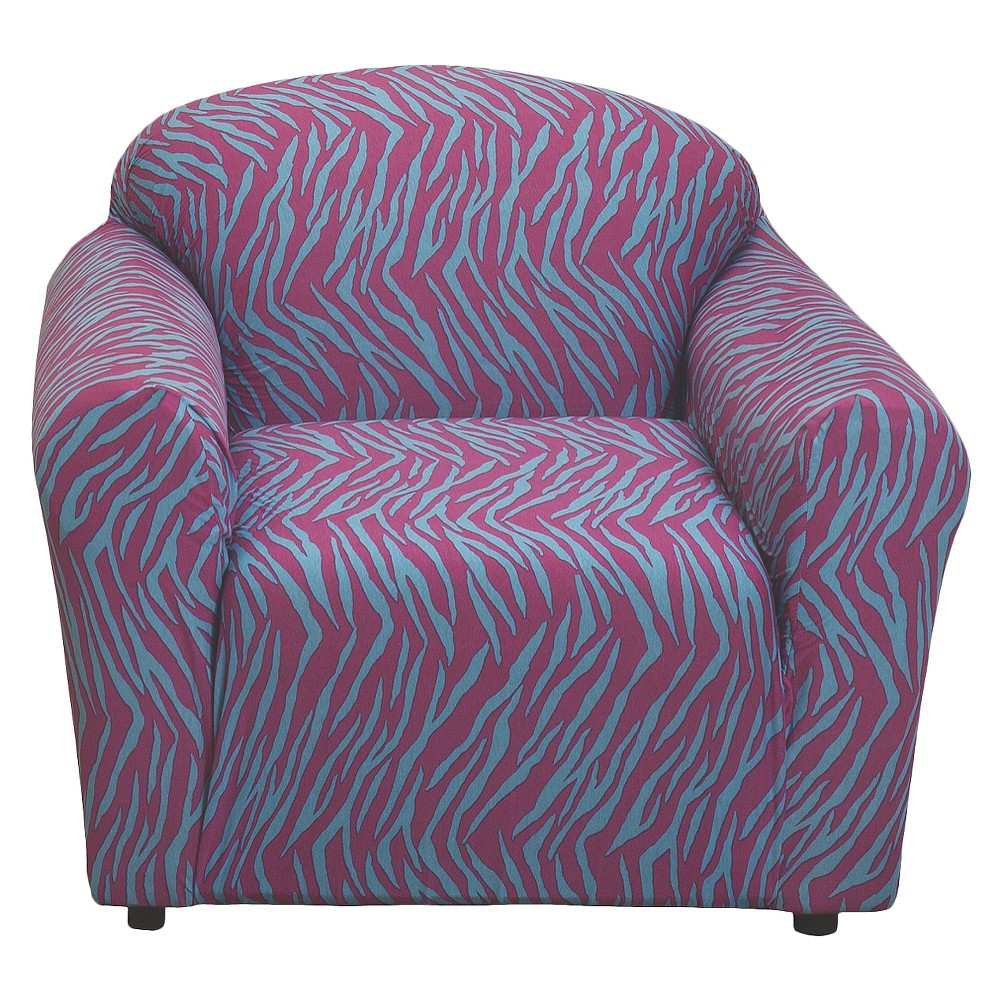 Zebra Print Jersey Stretch Chair Loveseat Slipcover - Madison Industries Best