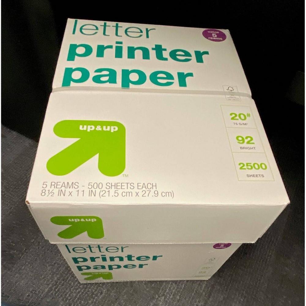 "Image of ""5pk 500ct 8.5"""" x 11"""" Printer Paper - Up&Up"""