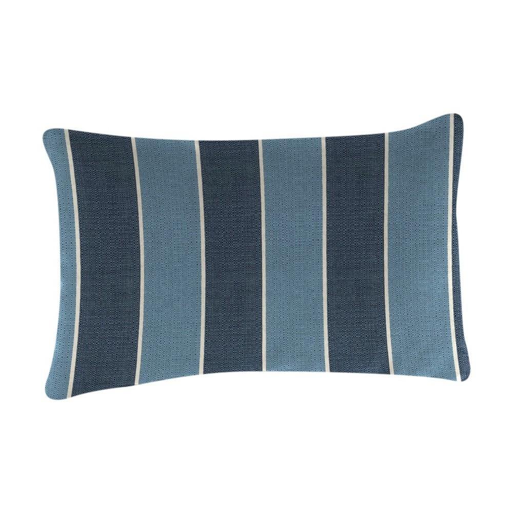 Image of Outdoor Throw Pillow Set Jordan Manufacturing Multi-colored Blue