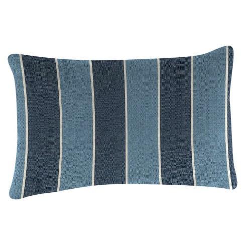 Outdoor Throw Pillow Set Jordan Manufacturing Multi-colored Blue - image 1 of 2