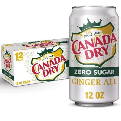Canada Dry Zero Sugar Ginger Ale Soda - 12pk/12 fl oz Cans