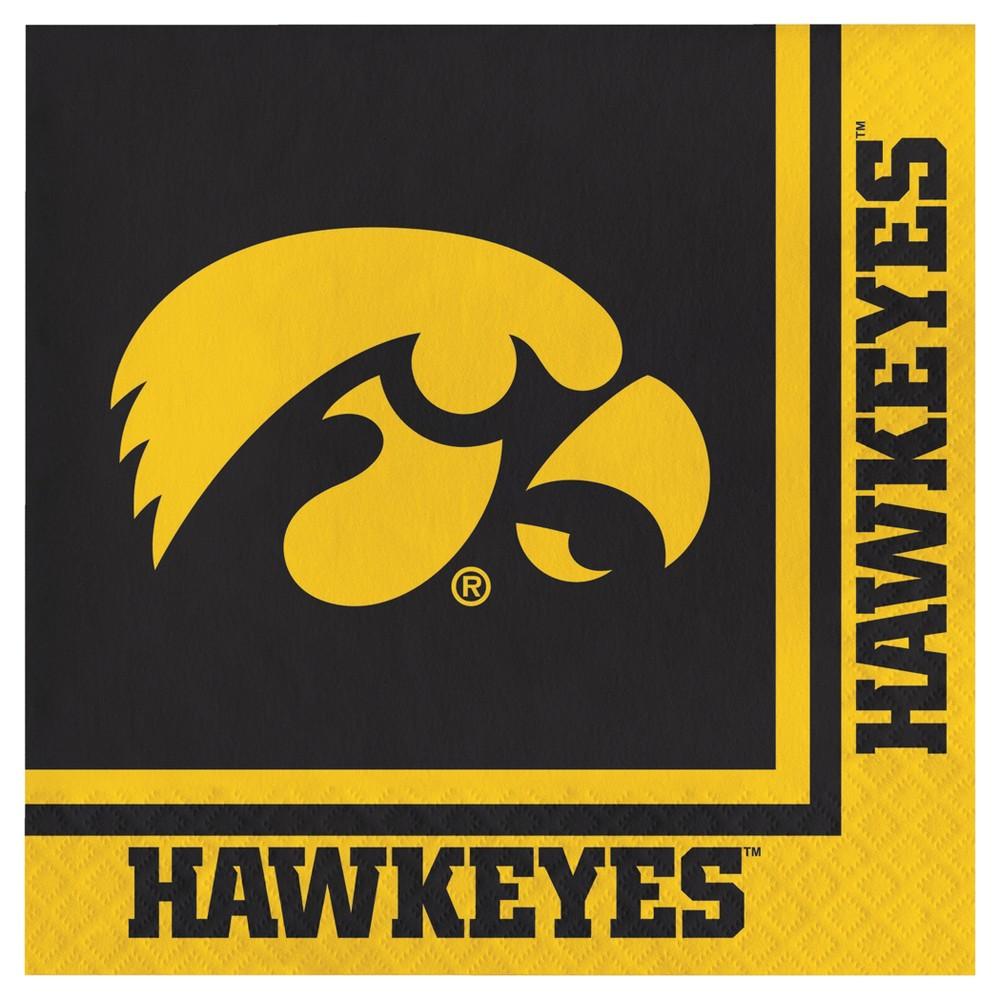 Image of 20ct University Of Iowa Hawkeyes Napkins