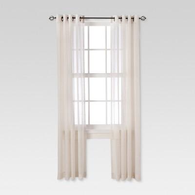 Linen Grommet Sheer Curtain Panel Natural (54 X84 )- Threshold™