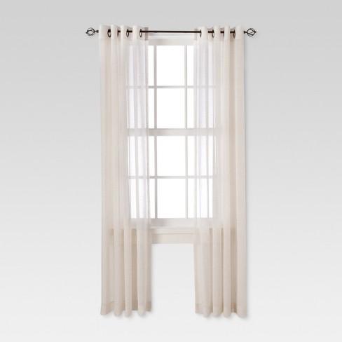 84 X54 Linen Grommet Sheer Curtain