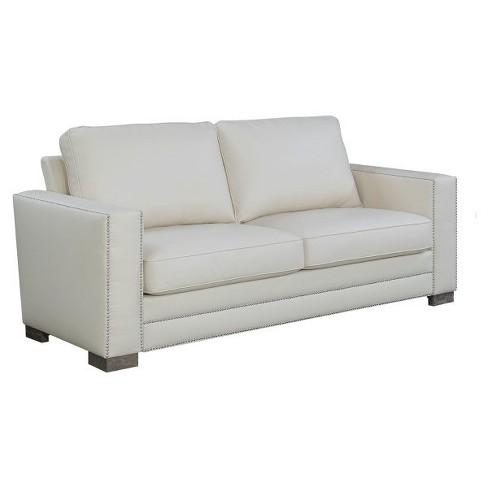 Mason 81 Bonded Leather Sofa Ivory