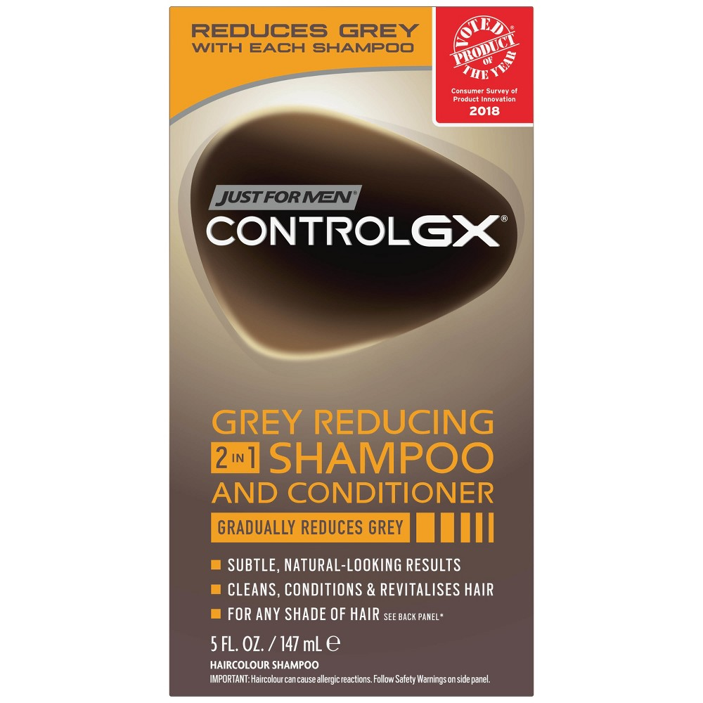 Image of Just For Men Control GX Gray Reducing 2 in 1 Shampoo and Conditioner - 5oz