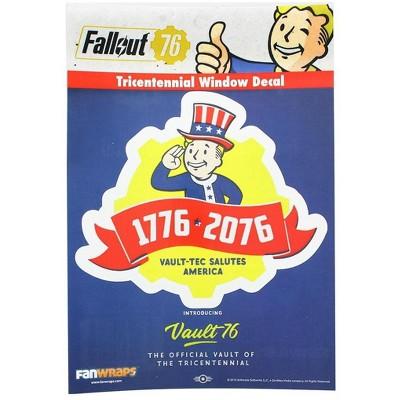 Fanwraps Fallout 76 Tricentennial Logo Window Decal