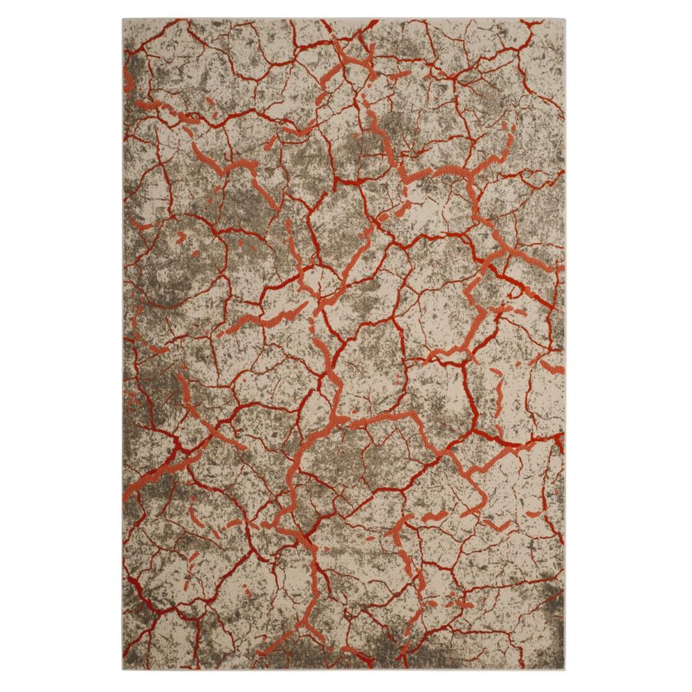 Gray/Orange Pebble Loomed Area Rug 6'X9' - Safavieh, Orange Gray