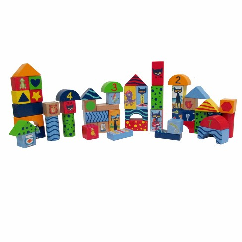 Pete The Cat-Wood Stacking Block Set 50pc Set - image 1 of 1