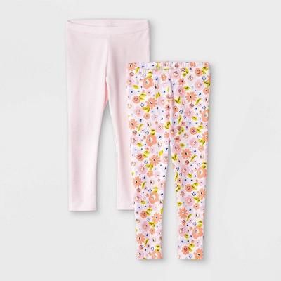 Toddler Girls' 2pk Floral & Sparkle Leggings - Cat & Jack™ Pink