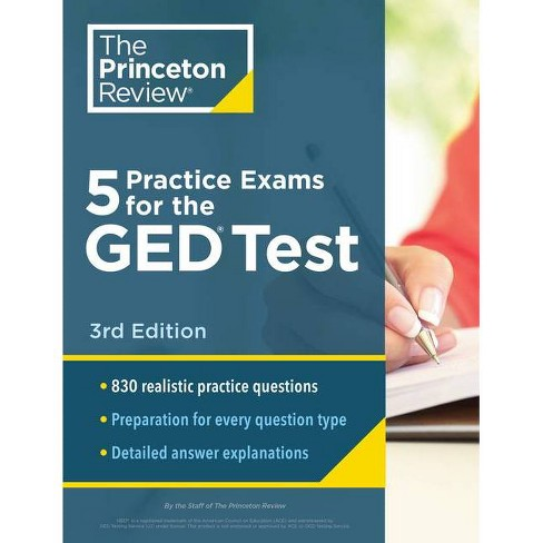 5 Practice Exams for the GED Test, 3rd Edition - (College Test Preparation) by  The Princeton Review - image 1 of 1