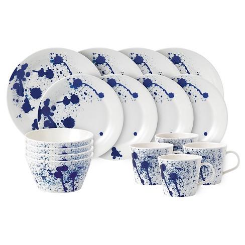 Royal Doulton Pacific Porcelain 16pc Splash Dinnerware Set White