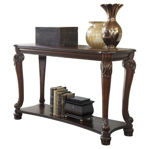 Norcastle Sofa-Console Table - Dark Brown  - Signature Design by Ashley - image 1 of 2