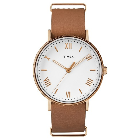 Women's Timex® Watch with Leather Strap - Rose Gold/Tan - image 1 of 3