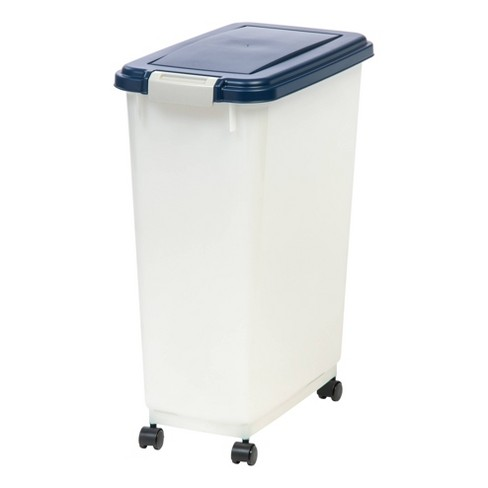 IRIS Airtight Pet Food Container - Navy/Pearl - image 1 of 4