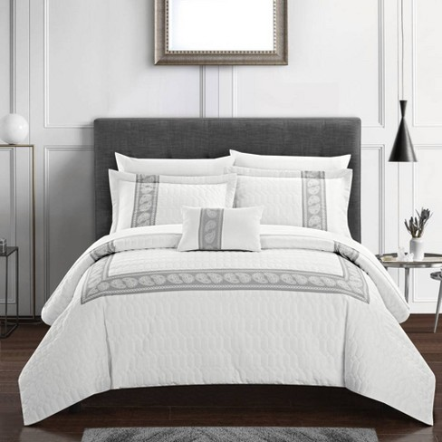 Chic Home Design Twin 6pc Mason Bed In A Bag Comforter Set White Target