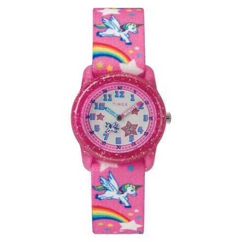 Kid's Timex Watch With Unicorns And Rainbows Strap - Pink TW7C25500XY - image 1 of 3