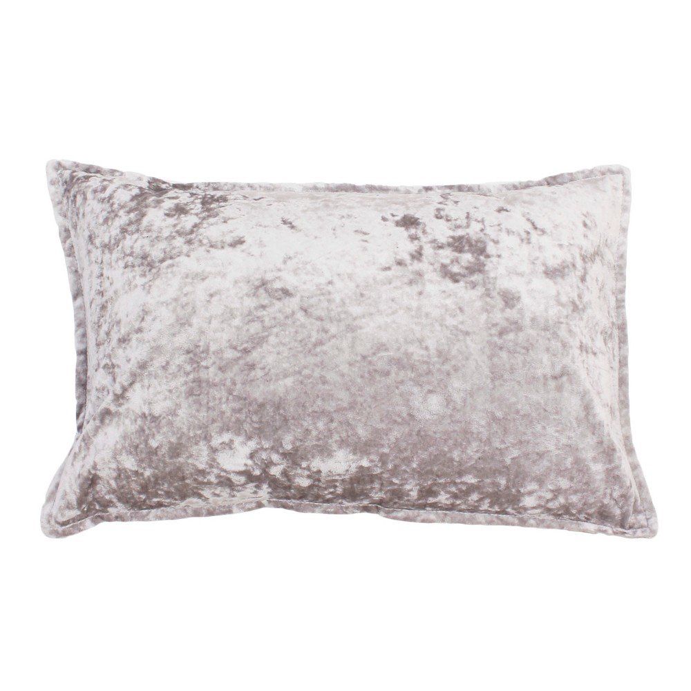 Iliana Ice Oversize Lumbar Throw Pillow Silver - Décor Therapy