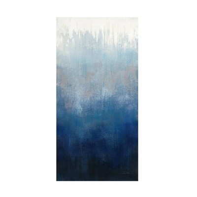 "16"" x 32"" Silvia Vassileva 'Silver Wave I' Unframed Wall Canvas - Trademark Fine Art"