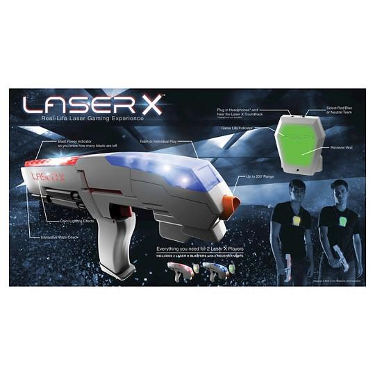 Laser X Two Player Laser Tag Blaster Gaming Set image number null