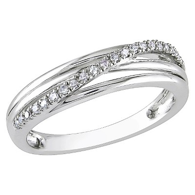 0.06 Ct.T.W. White Diamond Cocktail Ring In Sterling Silver by Target