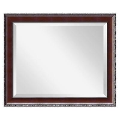 """20"""" x 24"""" Country Walnut Framed Wall Mirror - Amanti Art"""